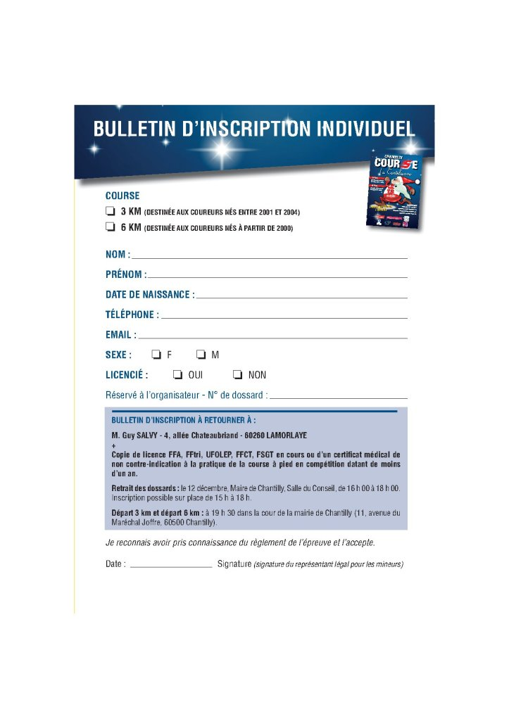 BULL INSCRIPTION  course nocturne